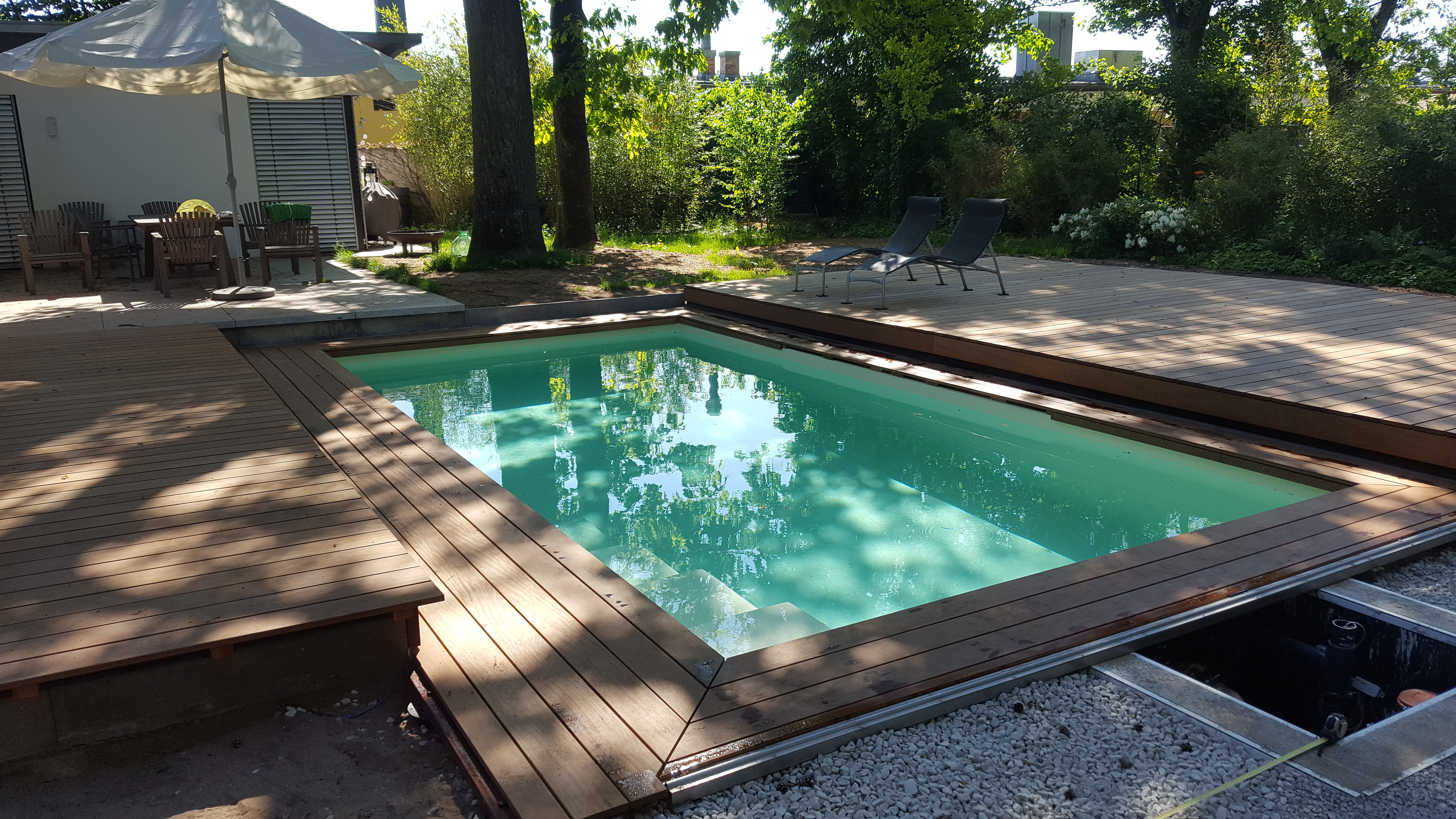kann man pool auf holzterrasse stellen – wohn-design