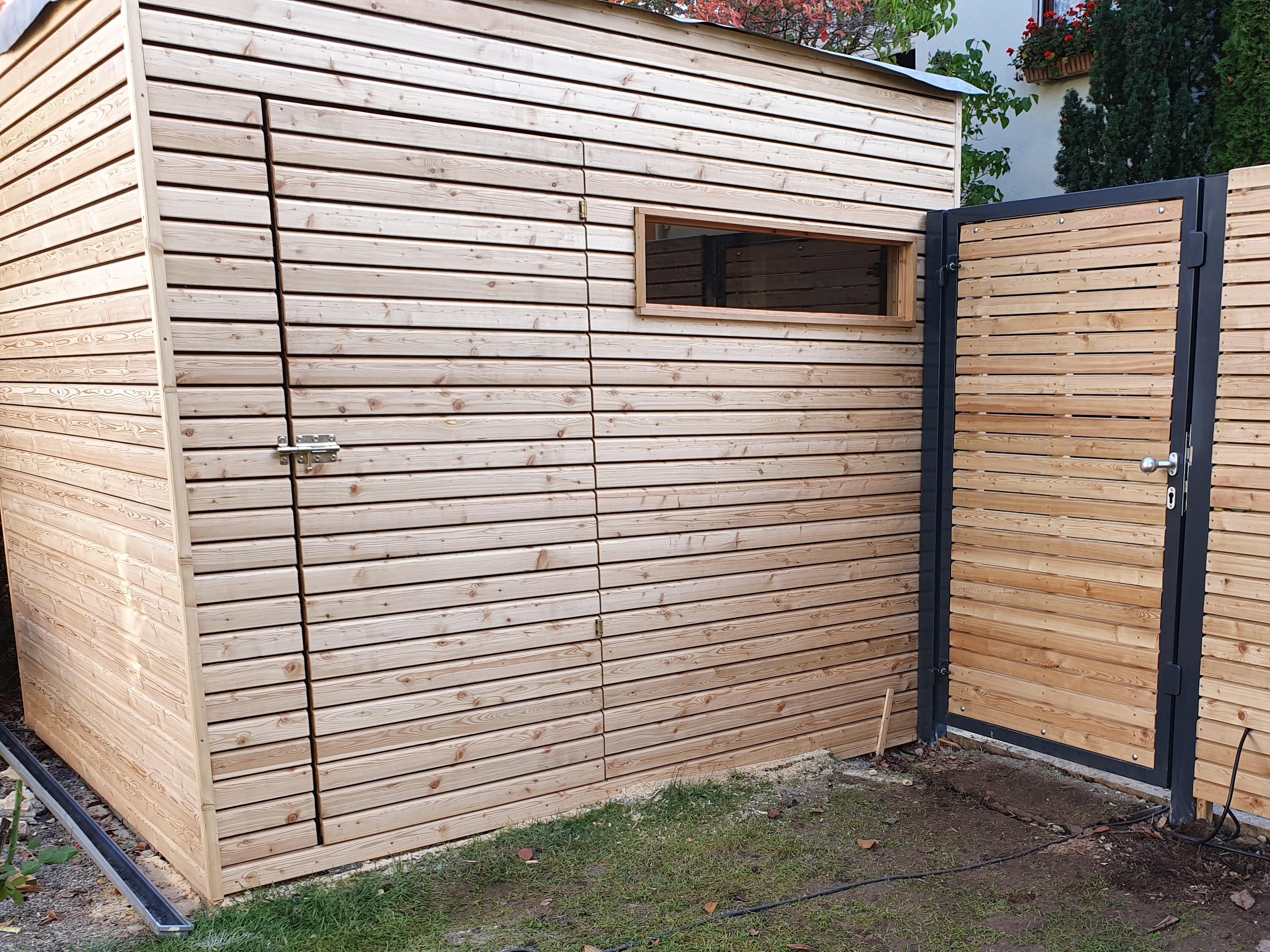 Gartenhaus Mit Zaun Plan Grun
